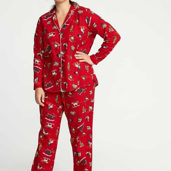 Old Navy Other - Nwt Dog Pjs Flannel Christmas Holiday Pup 3X Plus